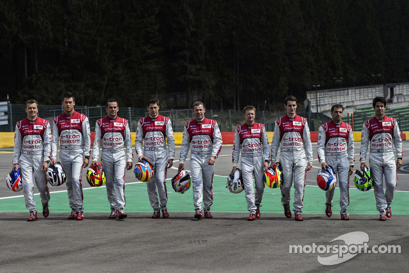 Audi at Le Mans: strong characters united