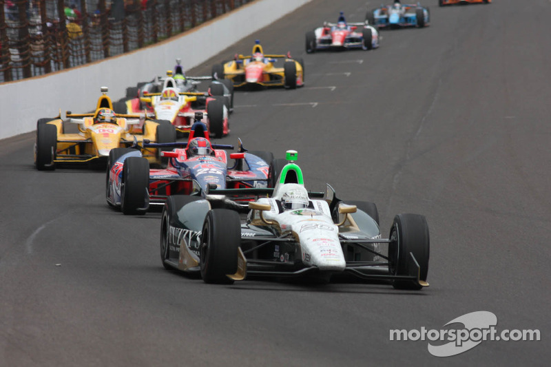 Carpenter strong early at Milwaukee Saturday before handling his car goes loose