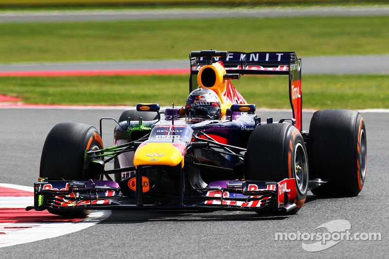 Red Bull occupied the second row start grid for tomorrow British GP