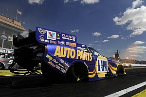 NHRA Qualifying report Capps records first three-second Funny Car run Route 66 Raceway history