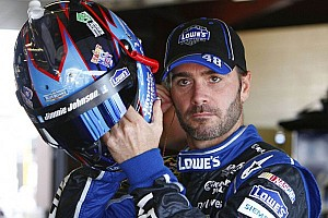 NASCAR Sprint Cup Breaking news Crash in practice sends Jimmie Johnson to backup car