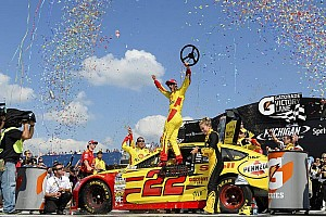 NASCAR Sprint Cup Race report Logano gets first win with Penske and Ford at Michigan