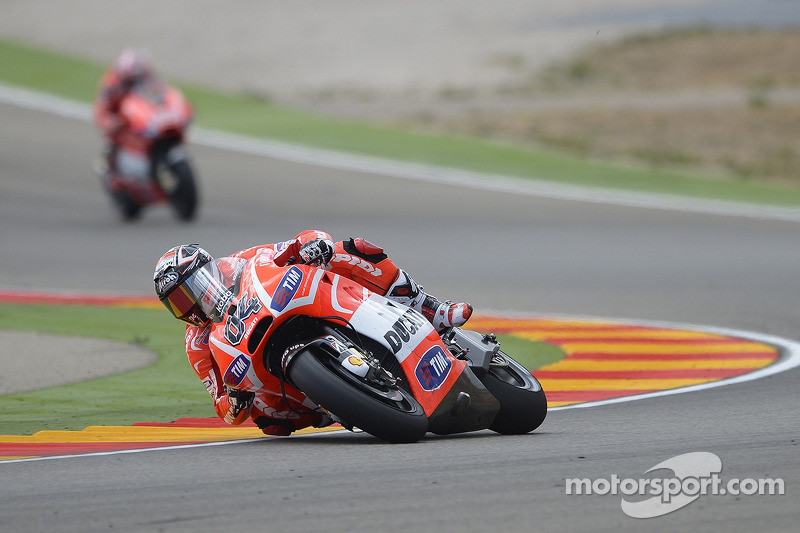 Unsatisfying day for Ducati Team at MotorLand Aragón