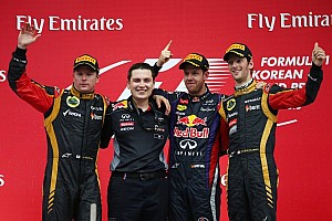 Vettel charges to thrilling third Korean victory