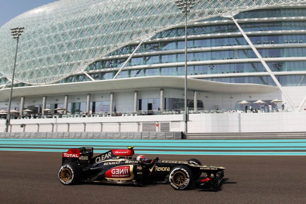 Grosjean tops FP1 in Abu Dhabi