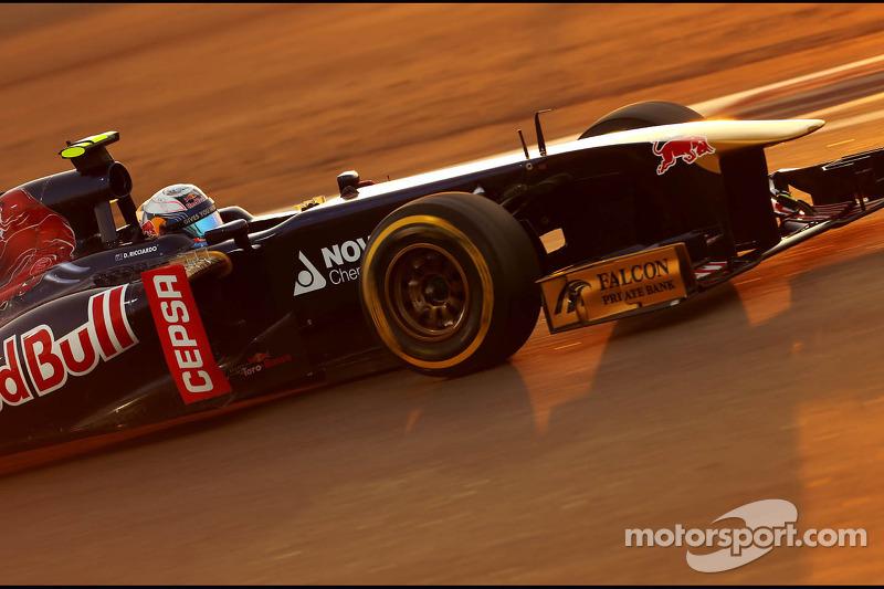 Toro Rosso's Ricciardo is top ten on qualifying for the Abu Dhabi GP