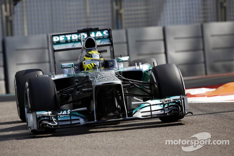 Podium for Mercedes' Rosberg at Abu Dhabi