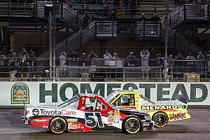 NASCAR Truck Race report Busch wins race, Crafton takes title at Homestead