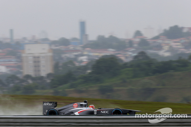 Mixed feelings for Sauber drives on Friday practice at Interlagos