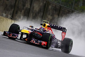 Webber heads wet final practice at Interlagos