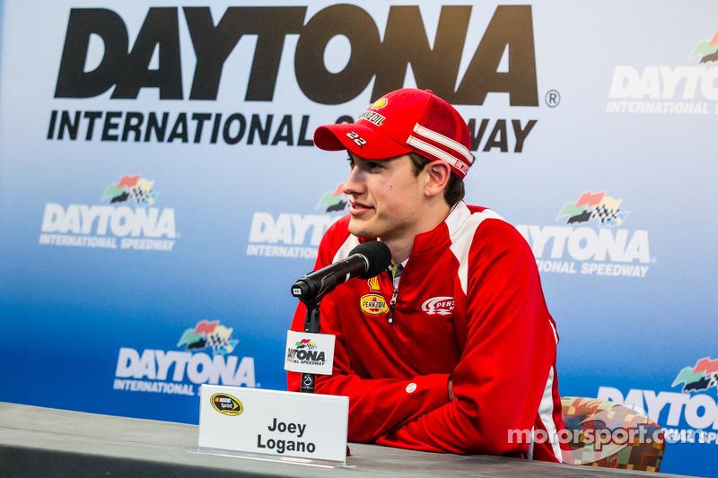 Joey Logano press conference at Daytona Media Day