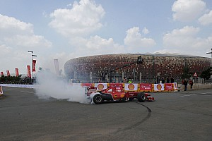 Shell showcases Ferrari at Johannesburg demo run