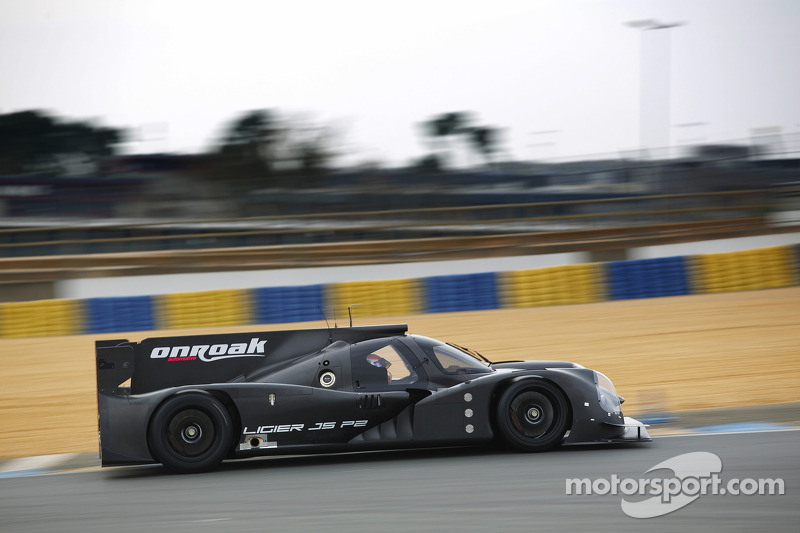The Onroak Automotive Ligier JS P2 turns a wheel for the first time
