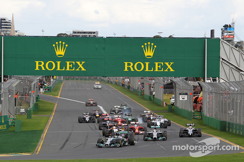 Two pit stops for the opening Grand Prix of a brand new era