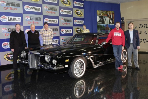 Dale earnhardt jr drives iconic elvis car ahead of for Charlotte motor speedway museum