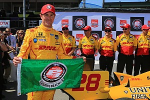 IndyCar Qualifying report Hunter-Reay surges to IndyCar pole at Long Beach