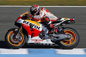 MotoGP Practice report Bridgestone: Marquez on record pace in Le Mans Friday practice