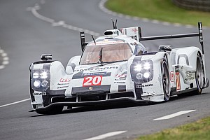 Le Mans Preview Porsche with the 919 Hybrid before the start in Le Mans