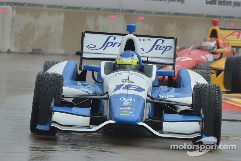 Dale Coyne Racing, Carlos Huertas penalized after Houston race 1