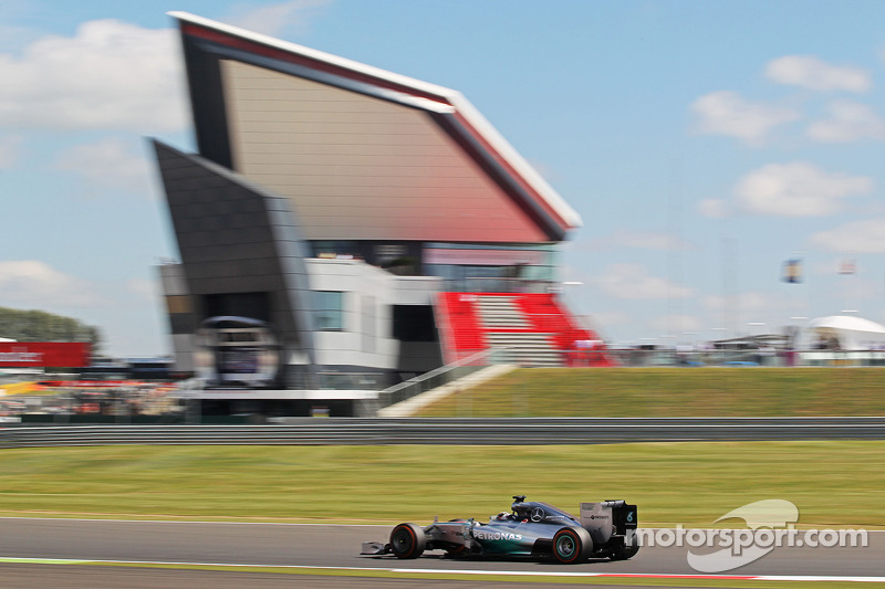 Mercedes leads the timesheets in the first two practice sessions at Silverstone