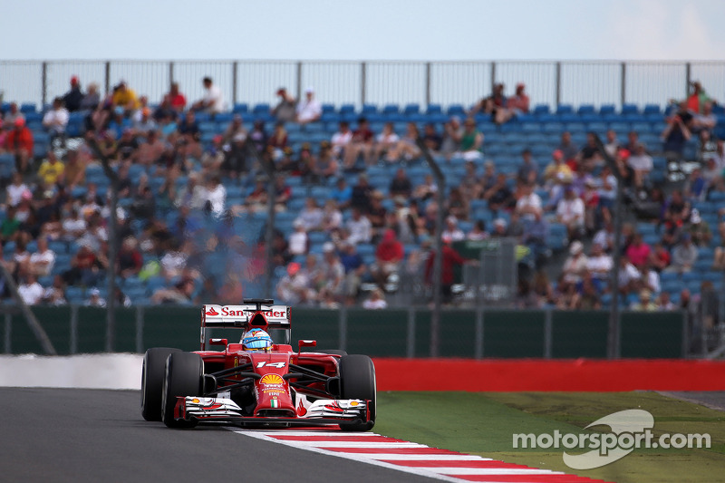 Ferrari on Friday practice for the British GP: The usual picture