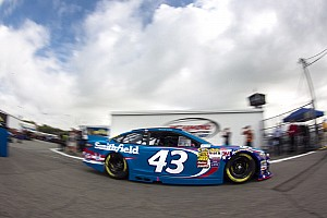 NASCAR Sprint Cup Race report Driving iconic No. 43, Almirola nabs first career win in rain-shortened Daytona race