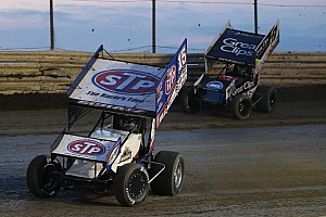 Schatz stood in victory lane as the winner at Skagit Speedway