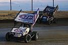 Schatz stood in victory lane as the winner at Skagit Speedway