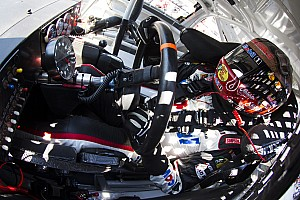 Tony Stewart wrecks after contact with Kyle Busch at Atlanta