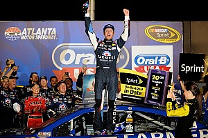 NASCAR Sprint Cup Race report Kasey Kahne wins his way into Chase in thrilling finish at Atlanta