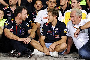 Vettel says emotional farewell to Red Bull factory