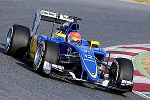 Despite an incident, Sauber's Nasr has a positive test day at Circuit de Catalunya