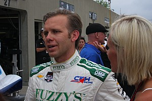 IndyCar Breaking news Ed Carpenter goes airborne, makes contact with catchfence - video