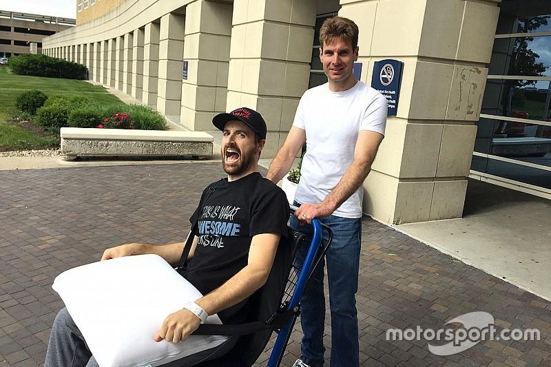 Hinchcliffe diz que precisou de mais de seis litros de sangue após acidente em Indianápolis