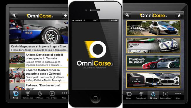 OmniCorse.it arriva su iPhone con l'App gratuita