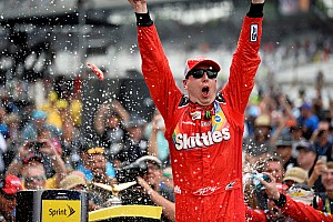 NASCAR Sprint Cup Race report Kyle Busch sweeps the weekend, wins Brickyard 400