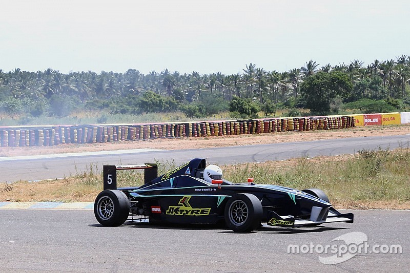 Rabindra take winning honours in race one of JK Tyre