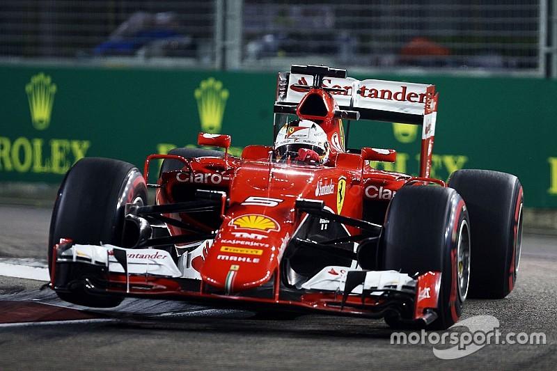 Vettel al frente en la 3° práctica; Mercedes fuera de ritmo
