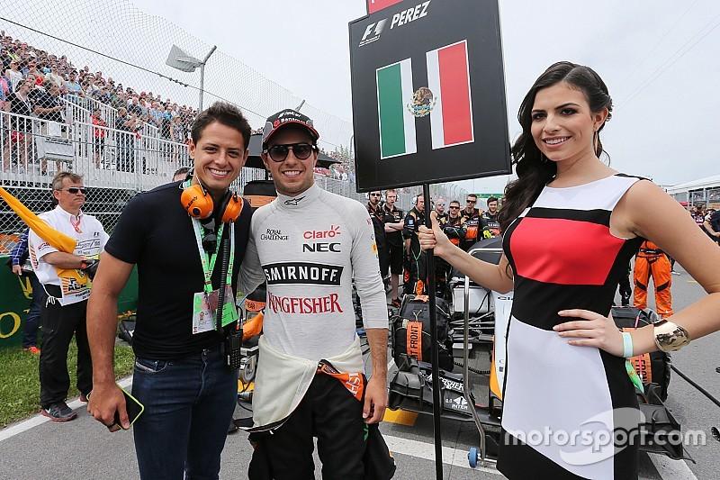 'Chicharito' le manda mensaje de apoyo a Sergio Pérez