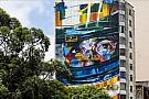 Inauguran mural en honor a Senna en calles de Sao Paulo