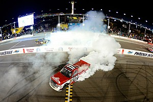 NASCAR Truck Race report Peters wins as Truck series title contenders wreck at Phoenix