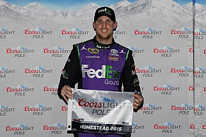 NASCAR Sprint Cup Qualifying report Hamlin takes Homestead pole, Harvick knocked out in second round