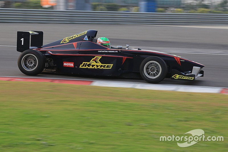 Peroni takes double pole for JK Racing finale