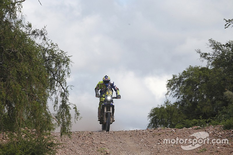 Duclos keeps Sherco TVS in top five, Santosh recovers in stage three