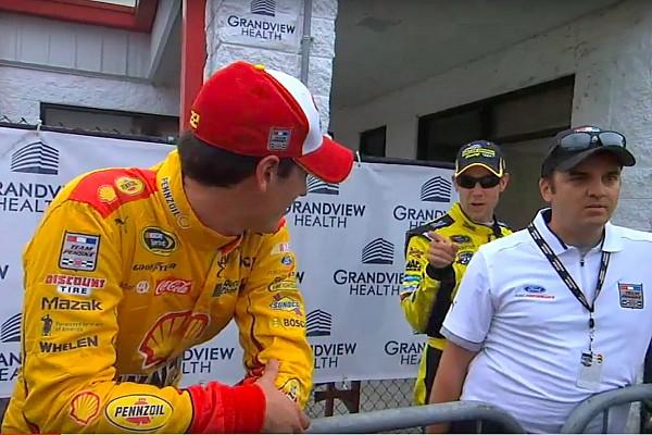 NASCAR Sprint Cup Kenseth/Logano feud heats up again at Talladega
