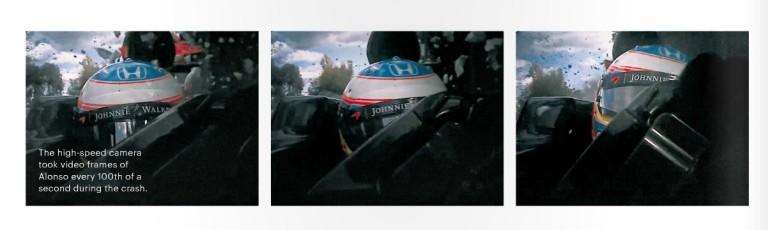 Nyilvánosságra hoztak két eddig nem látott képet Alonso horrorisztikus bukásáról
