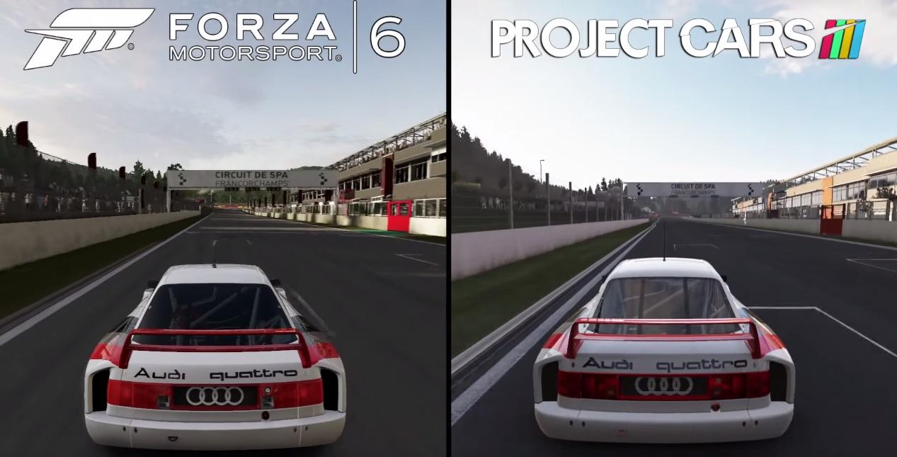 Forza Motorsport 6 Vs. Project CARS: Audi 90 Quattro GTO – Spa-Francorchamps