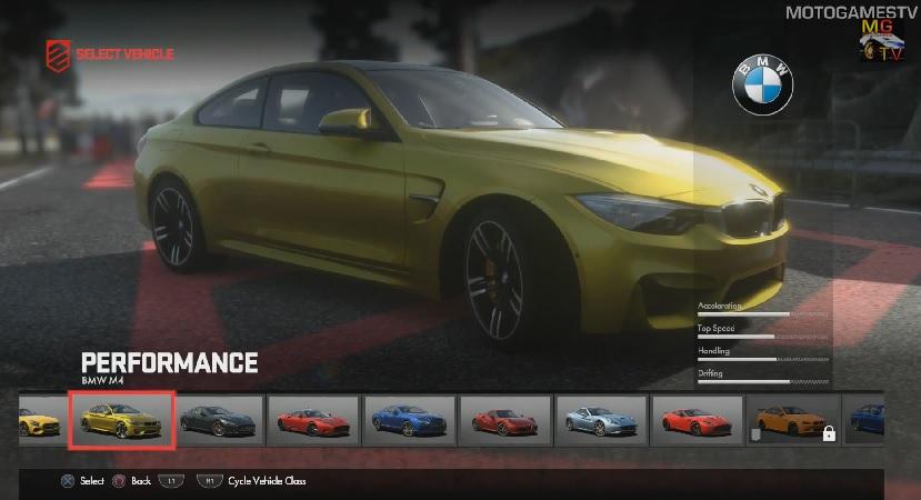 Az új BMW M4 a játékban: DriveClub (PS4)