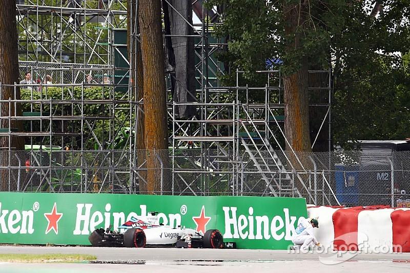 Williams звинувачує DRS в аварії Масси FP1