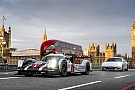 WEC Mark Webber drives Porsche LMP1 through London streets